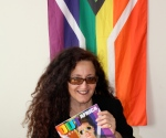 Melanie Nathan via gay flag of south africa