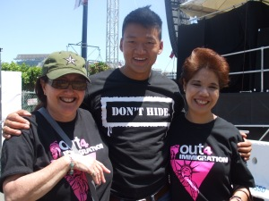 Melanie Nathan, Lt. Dan Choi and Shirley Tan