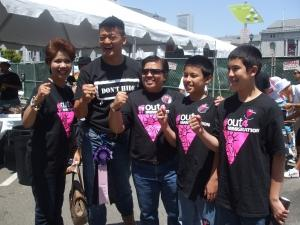 Binatinal Tan Family with Lieutenant Dan Choi who once chained himself to the White House for the repeal of DADT