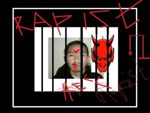 rapist behind bars