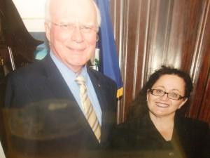 Melanie Nathan and Senator Patrick Leahy 2009