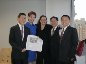 Shirley tan and Jay Mercado with Melanie Nathan and the Twins