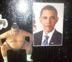 Photo by Refael, age 4, Refridgerator Magnets.