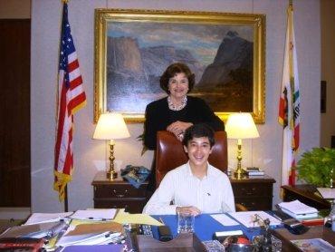 senator dianne feinstein and joriene Tan-Mercado