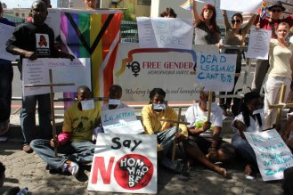 Free Gender Activists outside SA Parliament 2011