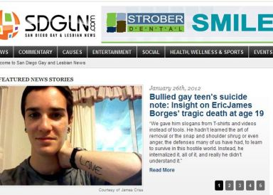 """My pain was caused by how I was treated because I am gay."""""""