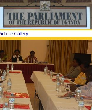 A committee meeting in Ugandan of Parliamentarians