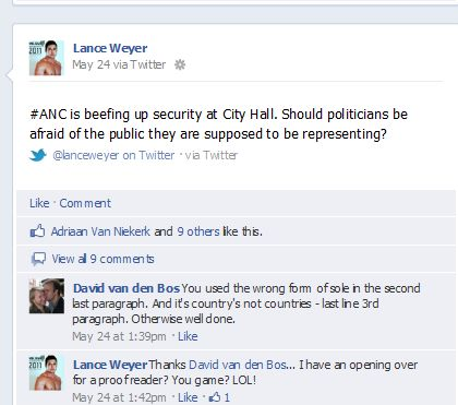 Lance Weyer Mr. Gay South Africa Uses Crown to Solicit Gay Votes for ...