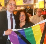 Chad Griffin, President HRC, and Melanie Nathan, Castro , San Francisco 2012.