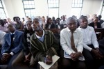 David Kato in Court Defeating Giles Muhame and Rolling Stone soon before his murder.
