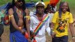 Community and activists enjoy Pride - Frank and Kasha