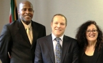 South African Consul General to New York, Hon. George Manyemangene, , Alan Demby, Chairman of SAGCE and Melanie Nathan, Marketing Director U.S.A. for SAGCE.