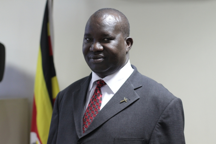 PHOTO: BY RACHEL ADAMS - pictured: Ugandan Minister for Ethics and Integrity Simon Lokodo at his office in Kampala, Uganda.
