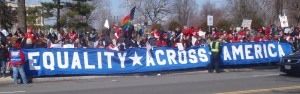 as does Equality Across America, winners of the longest banner award