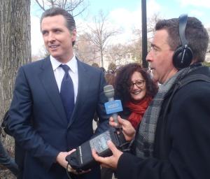 Gavin Newsom gave the press his impression of the proceedings