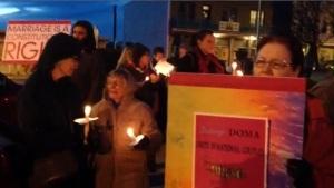 Candlelight vigil, Floyd, VA
