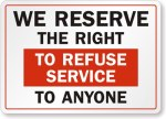 Right-to-Refuse-Service