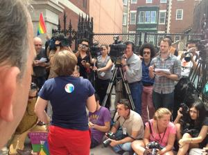 @PamSpees #rusalgbt demanding attention to persecution oppression of #lgbt community in #russia