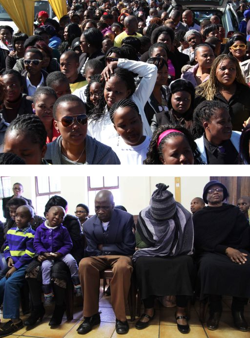 Over 500 people attended the funeral of Zozo to comfort her heartbroken family