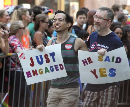 Thom Watson in SF Pride Parade Photo by Quinn Anya