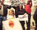 Melanie and refael Vodka protest