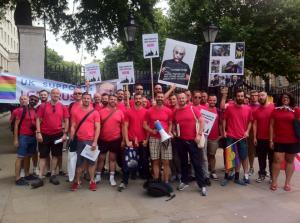 """The stewards are on site, fully briefed and ready for YOU! — at 10 Downing Street."" Courtesy Adam Betteridge"