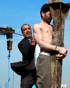 A flogging in Iran, which also follows Sharia law