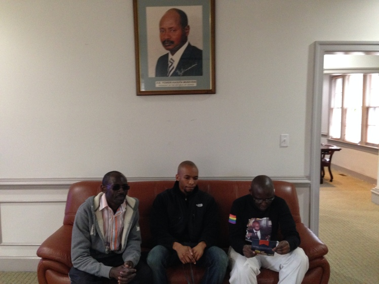 Waiting to speak with Ambassador. Photo courtesy Ellen Sturtz