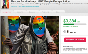 http://www.indiegogo.com/projects/rescue-fund-to-help-lgbt-people-escape-africa/x/6400968
