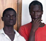The two men face criminal penalties after being charged with engaging in sex acts 'against the order of nature' Mukasa Jackson, left, and Mukisa Kim, right, in court in Uganda charged with engaging in gay sex Jackson Mukasa, left, and Kim Mukisa in court in Uganda charged with engaging in gay sex. Photograph: Rebecca Vassie/AP