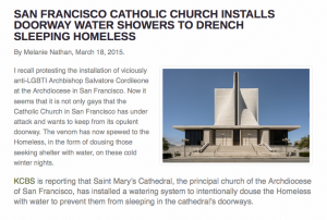 catholic church homeless