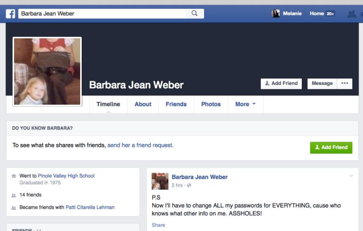 Facebook Barbara Jean Weber