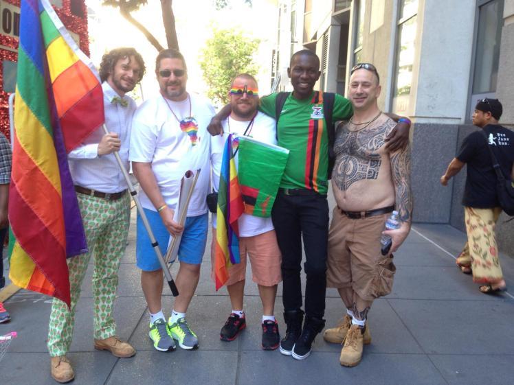 friends at pride
