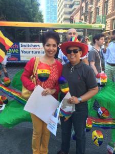 Shirley Tan and Jay Mercado