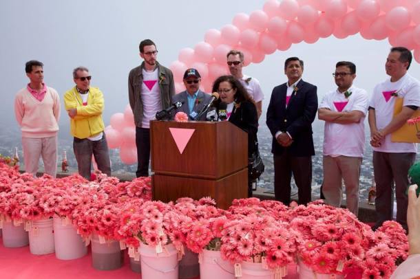 PINK TRIANGLE SPEECH - Melanie Nathan, Mayor Ed Lee, Patrick carney, Mark lenoo, David Campos, Tom Ariano, Jose Cisneros, Scott Weiner (not in order)