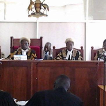 Judges inside the Court today