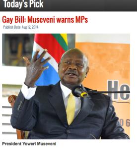 Yoweri Musevei President of Uganda