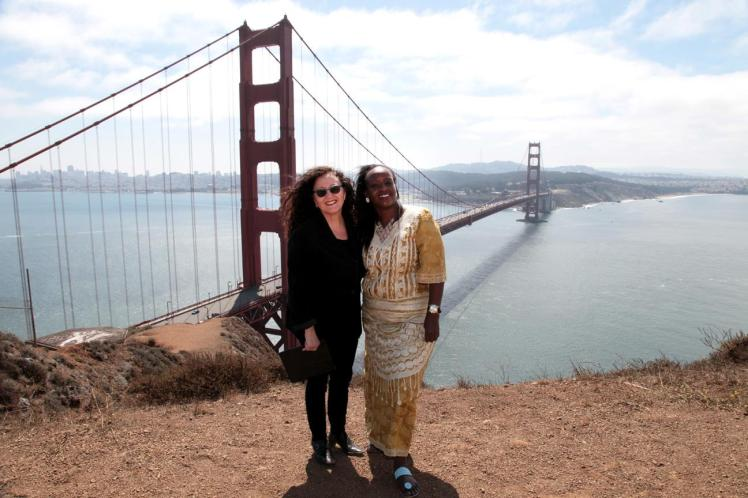 Ugandan MP Hon. Nabillah Naggayi Sempala with Melanie Nathan from SFALI