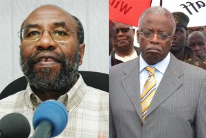 Dr Ruhakana Rugunda (L) has been appointed as the new Prime Minister to replace Mr Amama Mbabazi(R)