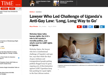 Time Magazing Piyo lawyer, Uganda, Human rights