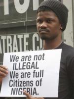 Nigeria gay protestor