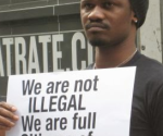 Nigeria gay protestor