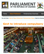 Ugandan Parliament Compulsory Registration of Persons Bill