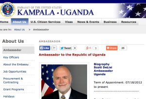 Ambassador DeLisi Uganda