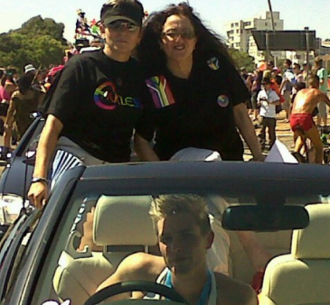 Ecclessia De Lange and Melanie Nathan Cape Town pride 2011