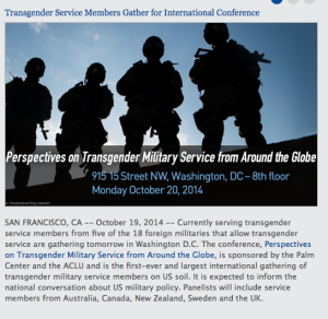 Palm Center, Transgender in Military Conference
