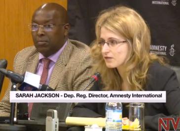 Sarah jackson, Amnesty International