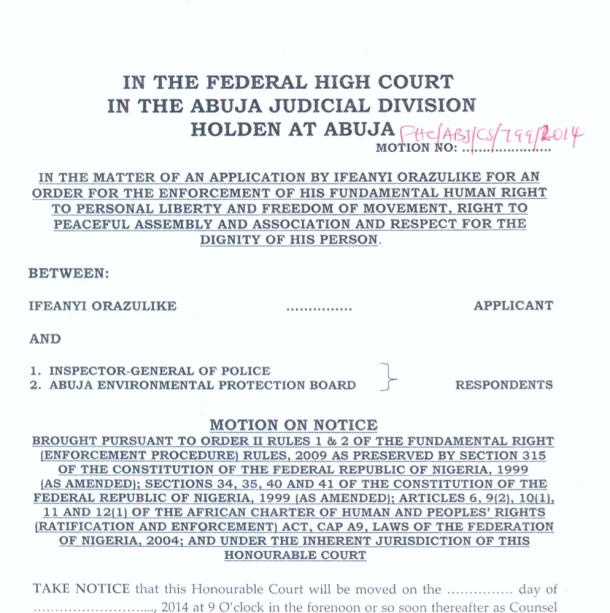 Nigerian LGBT case Ifeanyi