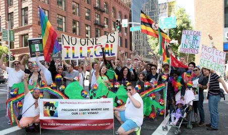 Melanie Nathan, SF Pride Community Grand Marshal  2014  Contingent