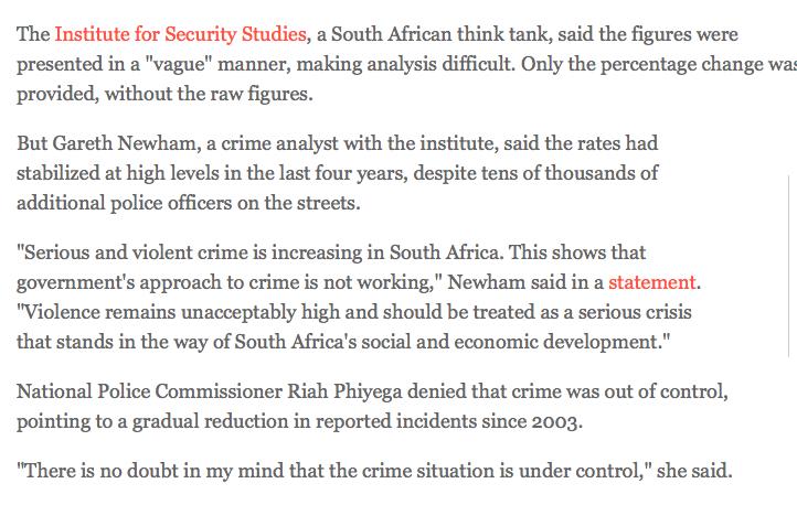 violent crime south africa